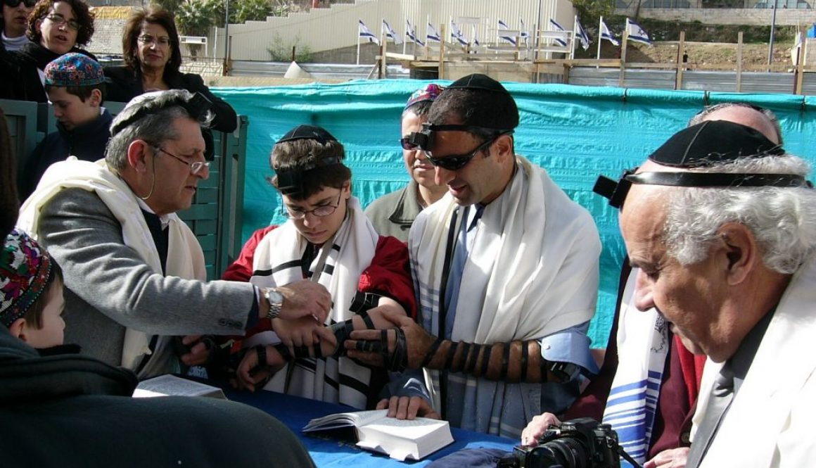 Tefillin family bar mitzvah PD