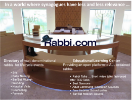 Synagogues Have Les and Less Relevance Rabbi com